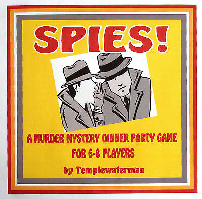 HOST A 1950's MURDER MYSTERY DINNER PARTY GAME - for 6-8 players