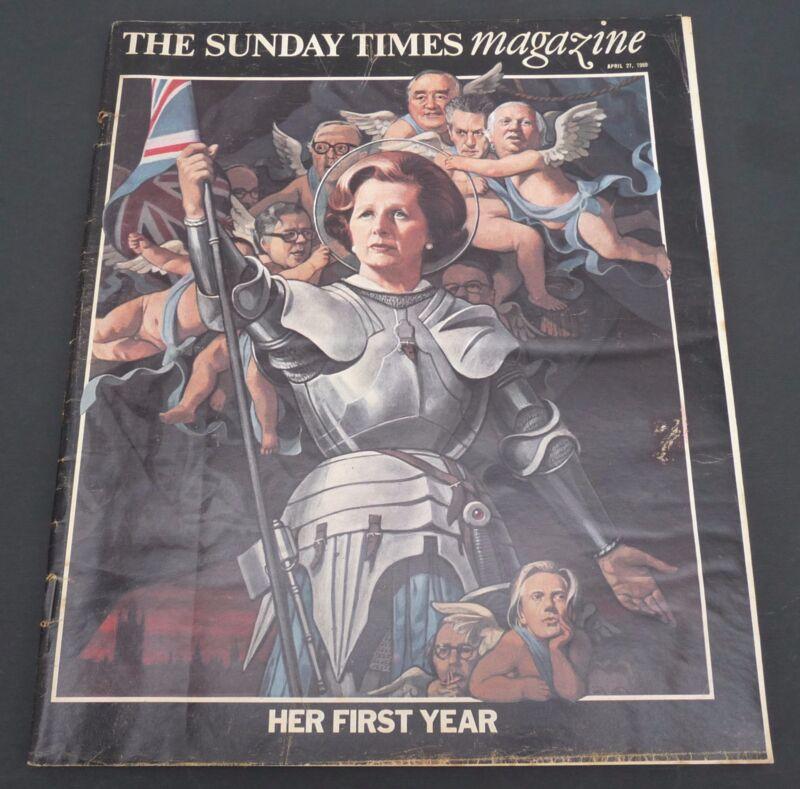 vtg London Sunday Times newspaper magazine 1980 Margaret Thatcher special issue