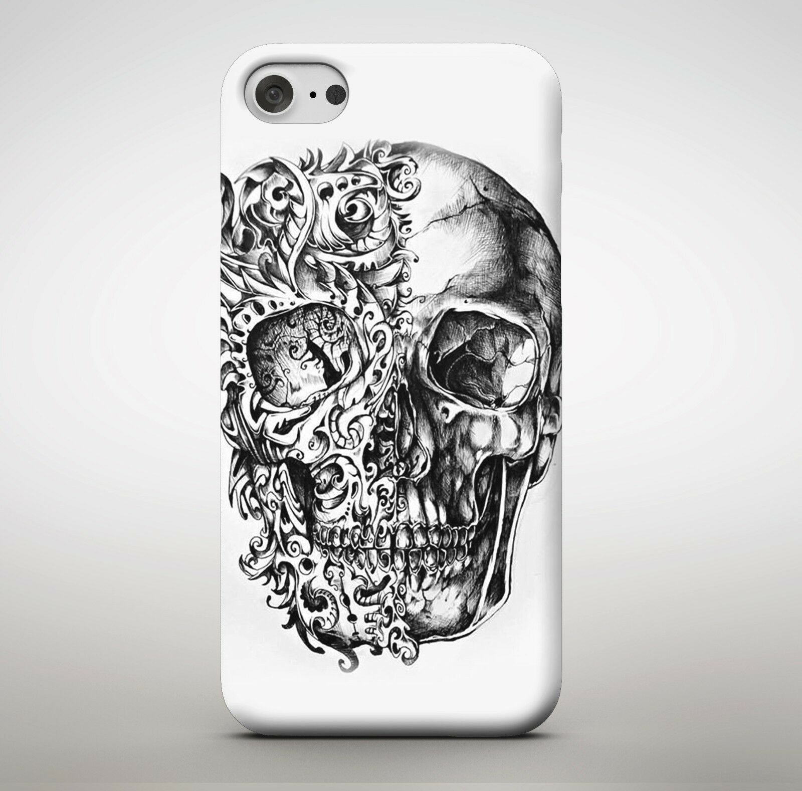 Details about awesome candy skull tattoo art fire ghost rider drawing pencil phone case cover