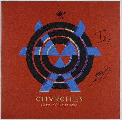 Chvrches JSA Signed Autograph Album LP Record Vinyl 4 Charity The Bones Of What
