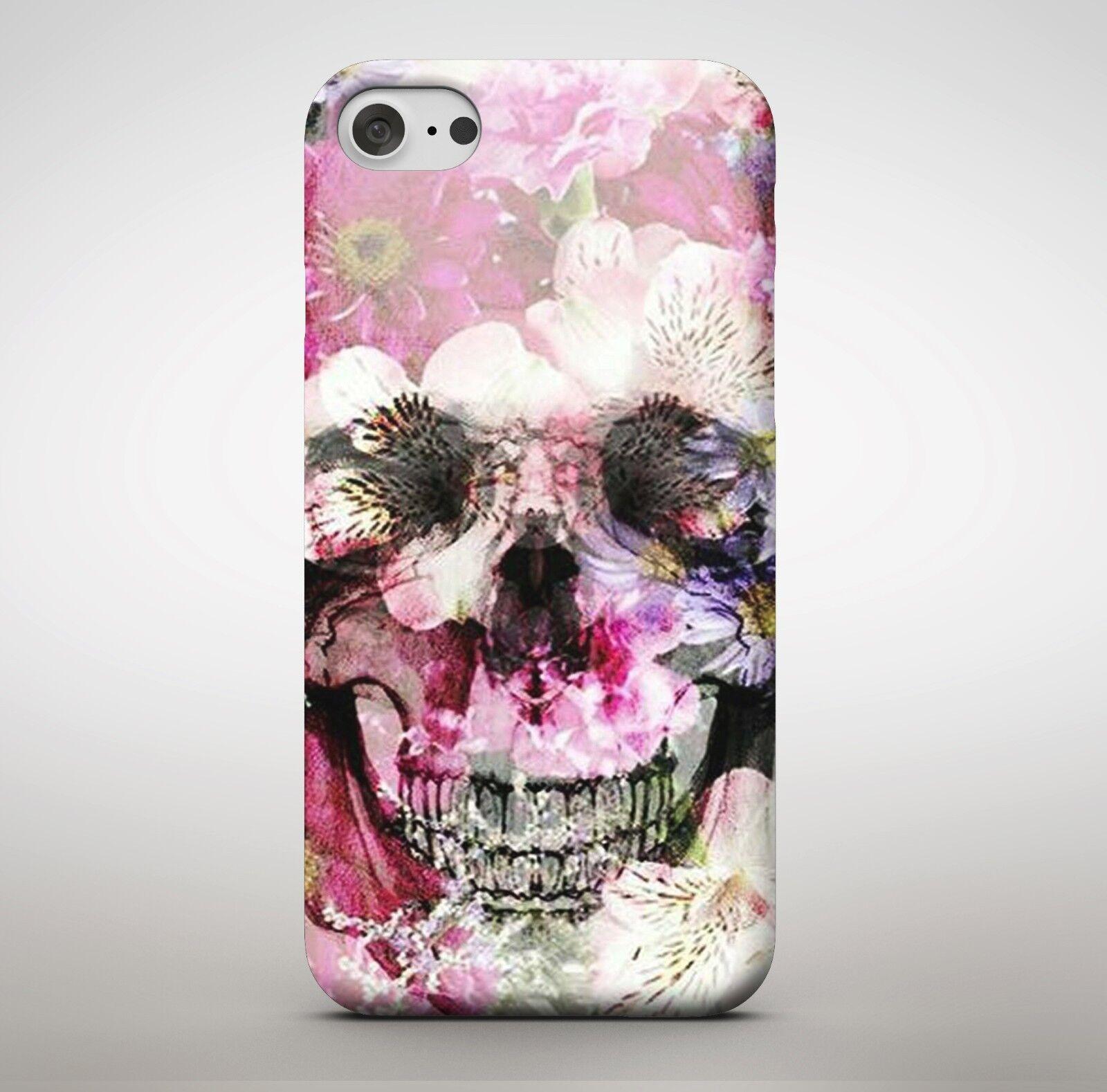 Floral flower skull skeleton artwork sugar pink petal colourful floral flower skull skeleton artwork sugar pink petal colourful phone case cover mightylinksfo