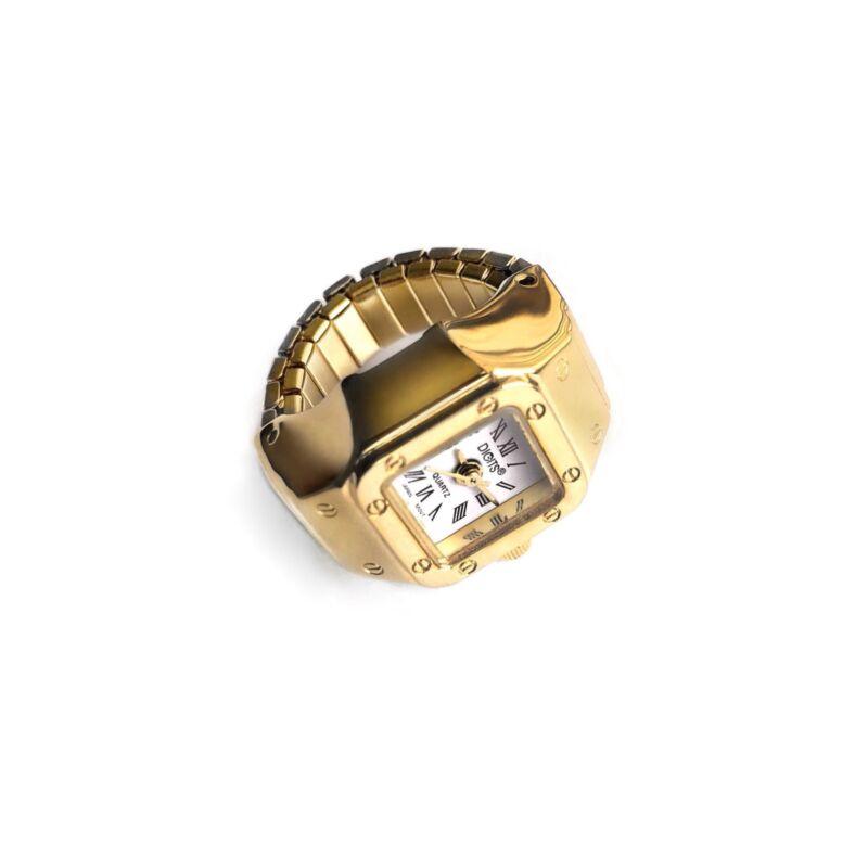 Stellar Radiance Ring Watch in Gold or Silver