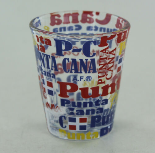 Punta Cana Shot Glass - Punta Cana in different colors & Flag