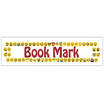 Emoji Themed Bookmark (Pack of 12) Party Goody Bags Fillers Boys Girls Kids - Emoji Themed Party