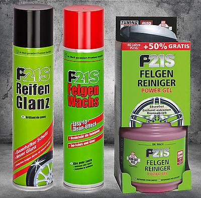 P21S Felgen Reiniger Power Gel 1253 + Felgenwachs 1270 + Reifenglanz 1290 gebraucht kaufen  Waldkraiburg