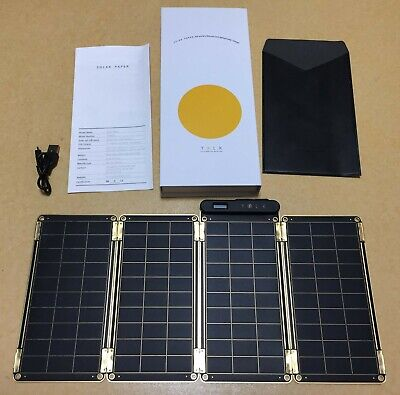 Yolk solar panel 10w charger mobile phone charge thin paper design