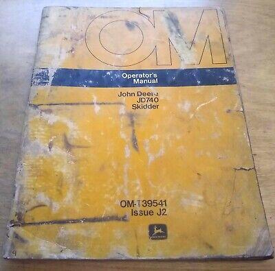 John Deere Jd740 Skidder Operators Manual Jd -- Original Oem