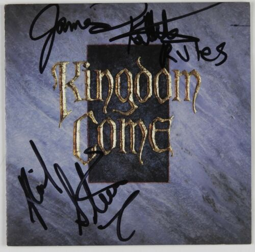 Kingdom Come JSA signed autograph CD Booklet James Kottak Rick Steier