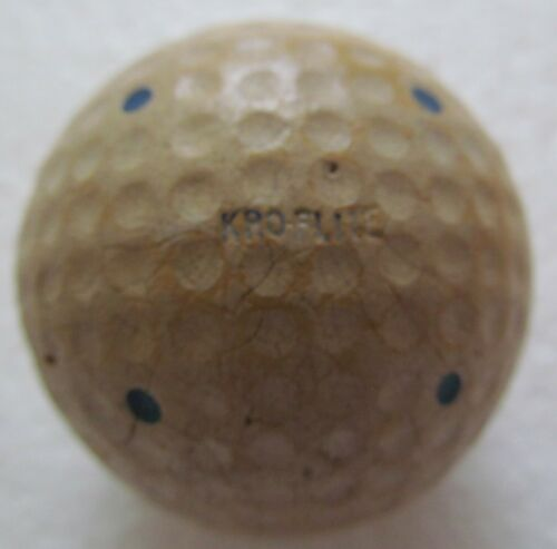 VINTAGE DIMPLE GOLF BALL-THE SPALDING KRO-FLITE WITH MULTI-MARKING