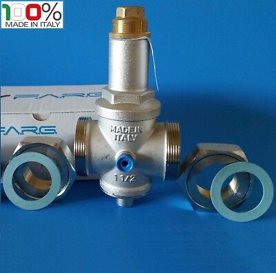 Water Pressure Reducing Valve 112 Npt Threaded Double Union Made In Italy