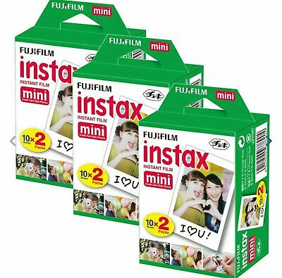 60 SHEETS Fujifilm Instax Instant Film For Mini 8-9 & all Fuji Mini Cameras