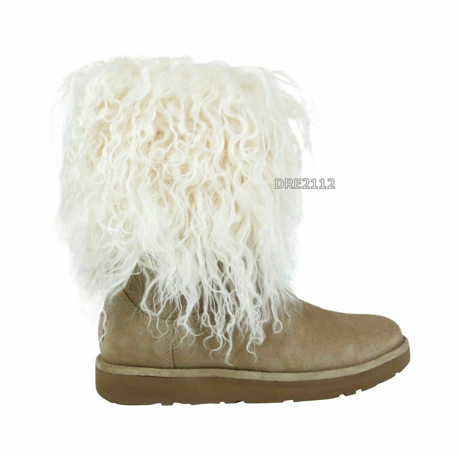 eaf0373511a UGG Lida Mongolian Sheepskin Cuff Natural Suede Classic BOOTS Size US 5  Womens