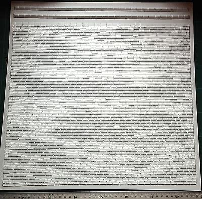 3D Flat Tile Roof plastic veneer sheets x2 G Scale trains, 1:24, Dollhouse etc