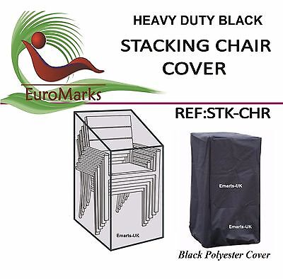 Strong Stacking Chairs Cover Garden Black Waterproof Stacking Chair Cover UK