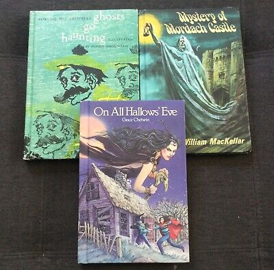 Childrens Halloween Books (Vintage Halloween Themed Children's Book Collection HB Lot of 3 Ghosts Haunts)
