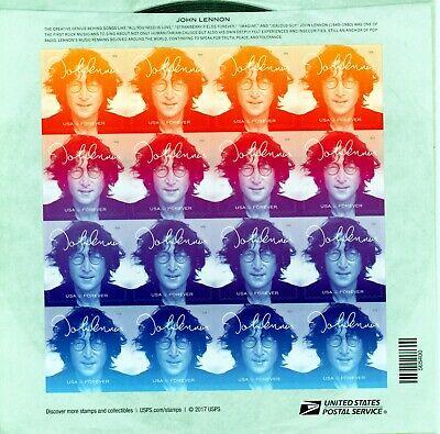2018 John Lennon Sheet of 16 Forever US Postage Stamps Scott #5312-15 MINT