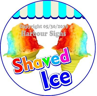 Shaved Ice Decal Choose Your Size Ice Cream Concession Food Truck C Sticker