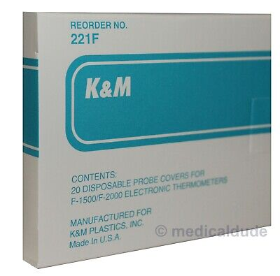 Km Disposable Thermometer Probe Covers For Filac F-1500 F-2000 Box Of 20