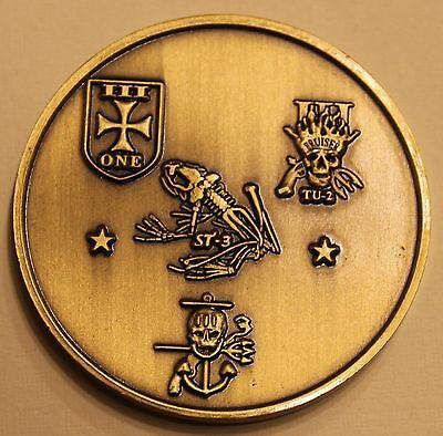 Naval Special Warfare SEAL Team 3 Task Units 1/2/3 Navy Challenge Coin / Three ()