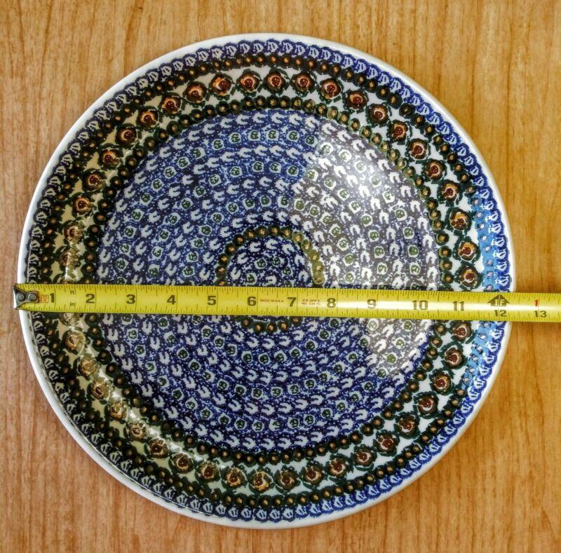 Unikat LARGE PLATTER BoleslawiecPolish Pottery Ceramika Artystyczna Signed