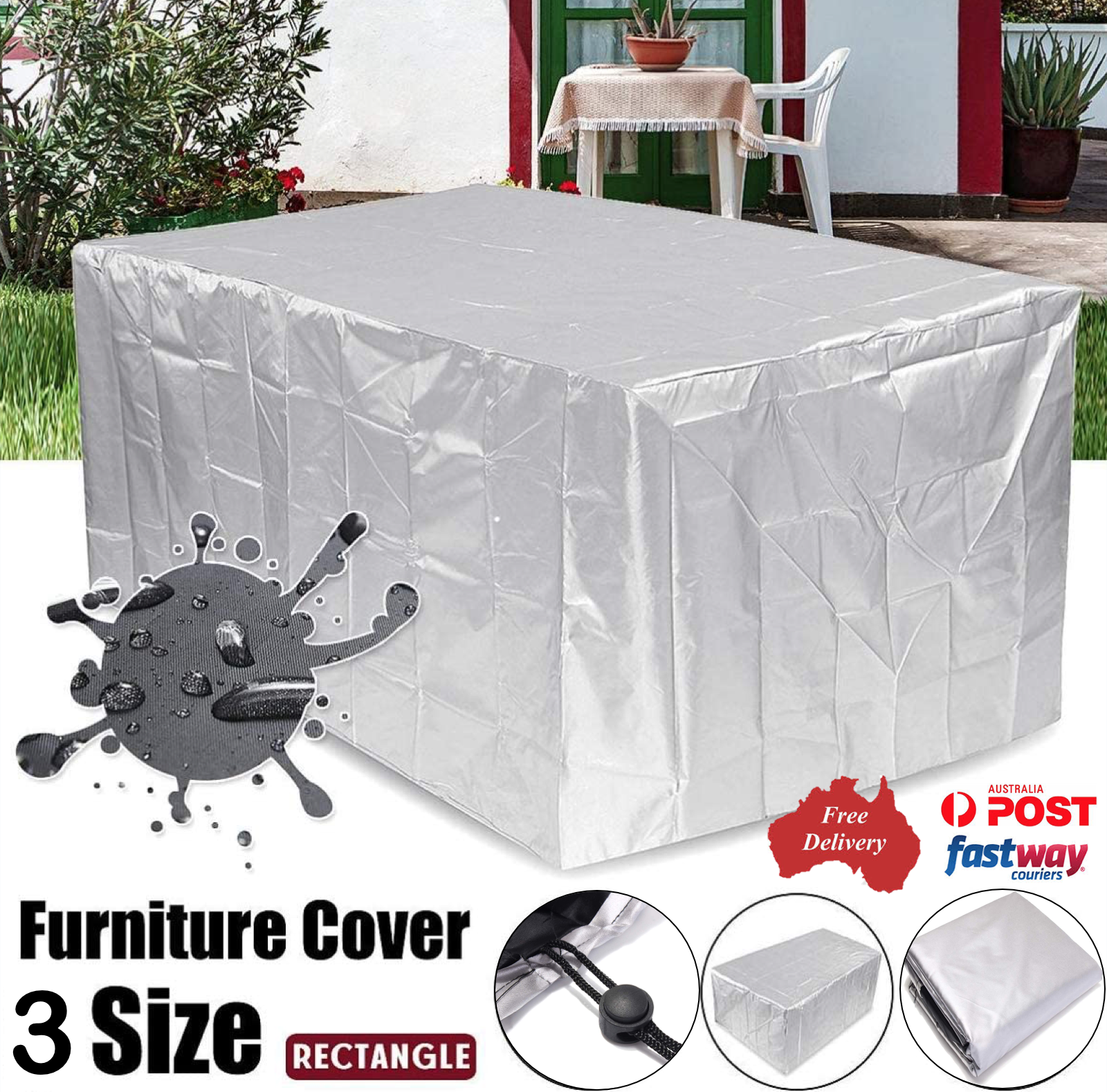 Garden Furniture - Waterproof Outdoor Furniture Cover Yard UV Garden Table Chair Shelter Protector