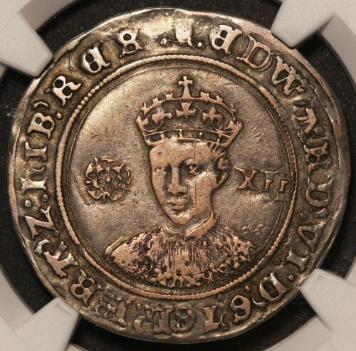 1551-53 Britain England Edward VI One Shilling Silver Coin S-2482 - NGC VF 30