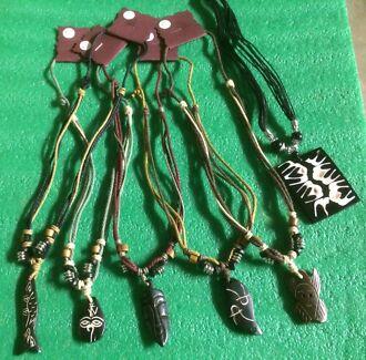 wooden pendant necklaces $5 for 6 necklaces