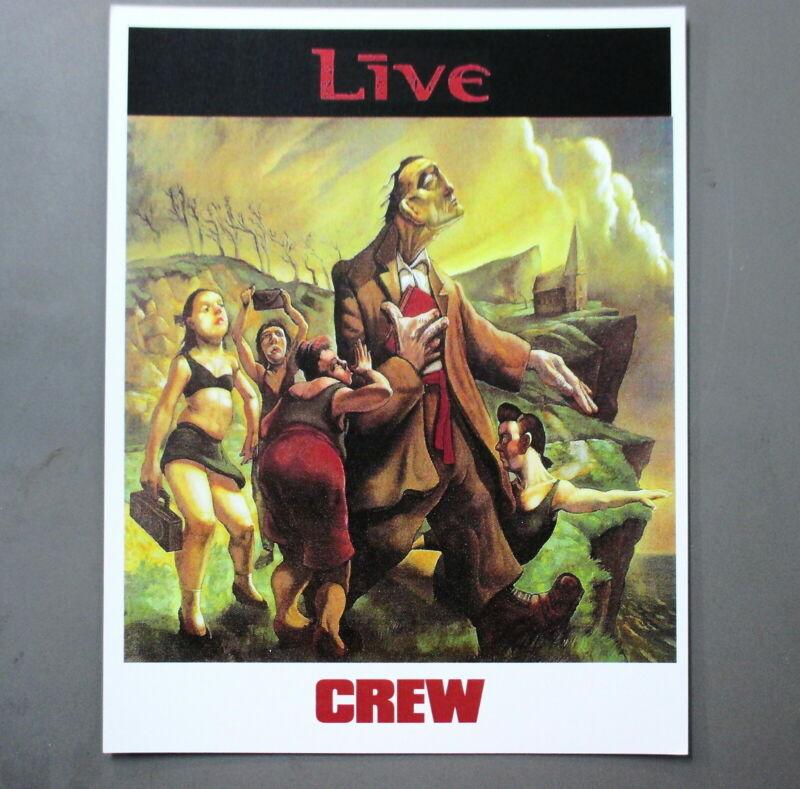 """Live Backstage Door Sign ! 8.5"""" X 11"""" CREW !"""