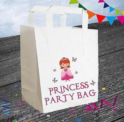 Prinzessin Fee Party Beutel Pack 6) / Goody Beutel Geburtstag