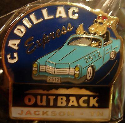 J6108a Outback Steakhouse Jackson Tn Blue car hat lapel pin