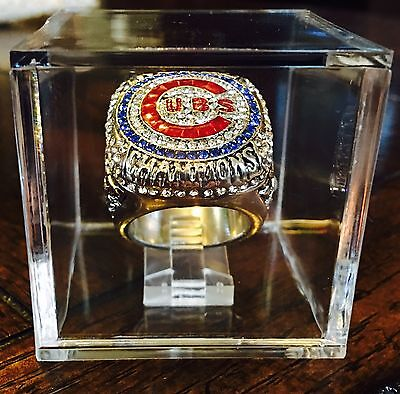 New 2017 Mint Chicago Cubs 2016 World Series Championship Ring W  Displays Cube