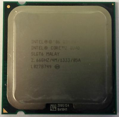 INTEL CORE 2 QUAD SLGT6 2.66GHZ 4MB LGA775 CPU PROCESSOR TESTED WARRANTY