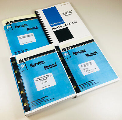 International 886 Tractors Parts Service Manuals Engine D-360 Sn Up To 14471 Set
