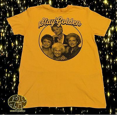 New Golden Girls Stay Golden Vintage Classic Men's 80's Throwback T-Shirt Stay Golden T-shirt
