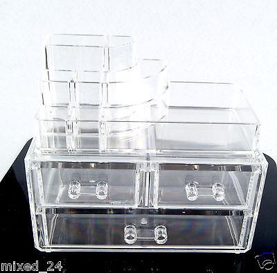 Acryl Kosmetikorganiser Schublade Aufbewahrung Schmuck Lippenstifte Nagellack K5