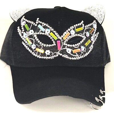 Maskenball-Maske Baseball Kappen,Damen,Mädchen Halloween Katze Ohren ,Kostüm Hut