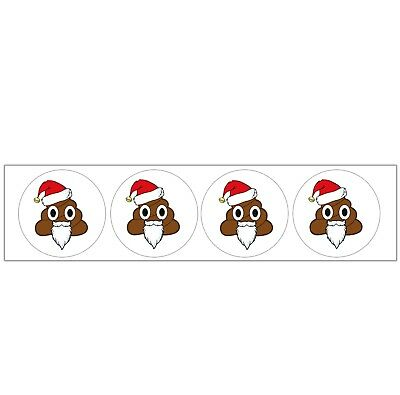 Emoji Santa Poo Themed Party Bag Stocking Fillers Boys Girls 48 Stickers - Emoji Themed Party