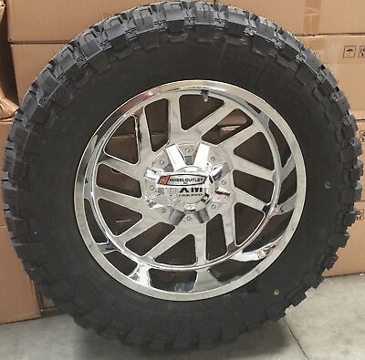 20x10 Xtreme Mudder XM 310 Wheels Chrome Offroad Rims 6x135/139.7 +0