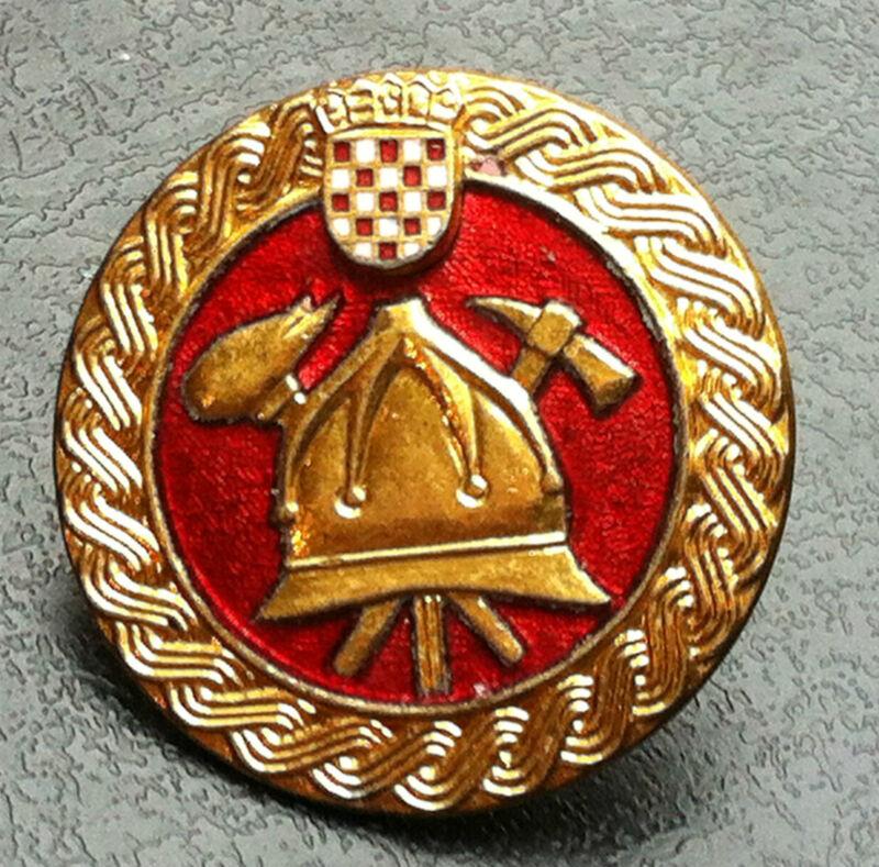 Croatia Fire Fighting - Firemen badge, Made in Croatia Ikom Zagreb !