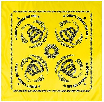 Yellow and Black Gadsden Flag Snake DON'T TREAD ON ME 22