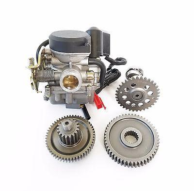 True 20mm Carburetor, PrePressed 49/17 Gears, A9 Cam Performance Scooter 139QMB