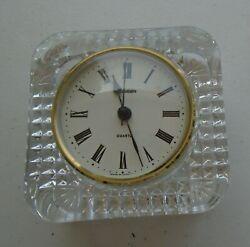 Clock Crystal Glass Staiger Germany Quartz France Desk Shelf Mantel