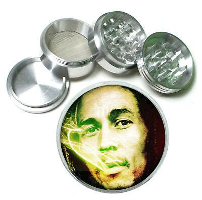 Bob Marley Smoke Rs1 Themed Aluminum Herb Grinder 63mm 4 Piece Hand Mueller Bob Marley Smoke Herb