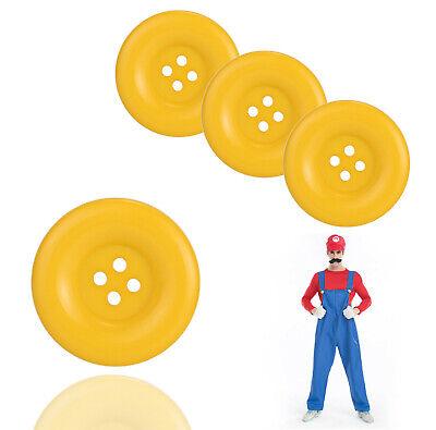 Knopf Mario 3cm gelb für Kostüm, Verkleidung, Erwachsene  (Super Mario Kostüme Erwachsene)