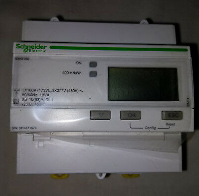 Schneider A9mem3150 Iem3100 Lcd Digital Three Phase Energy Power Meter Used