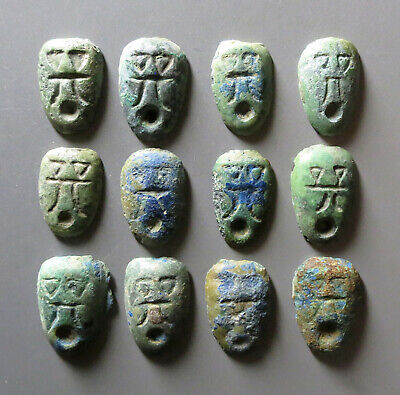 B.C 4 Century The Warring States Period Chu Ants Nose (Ghost Face) Coin X 12 Pcs