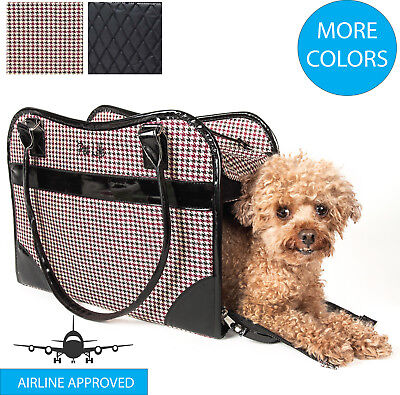 Exquisite Designer Fashion Travel Pet Dog or Cat Carrier Tote Bag Purse ()