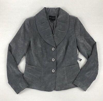 Tribal Brand Women's Blazer Size 4 Velvet Front Pockets Gray - Velvet Blazer