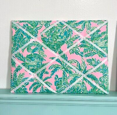 New Memo board made with Lilly Pulitzer Mandevilla Baby Pink Sands Paradise fab Fabric Memo Board