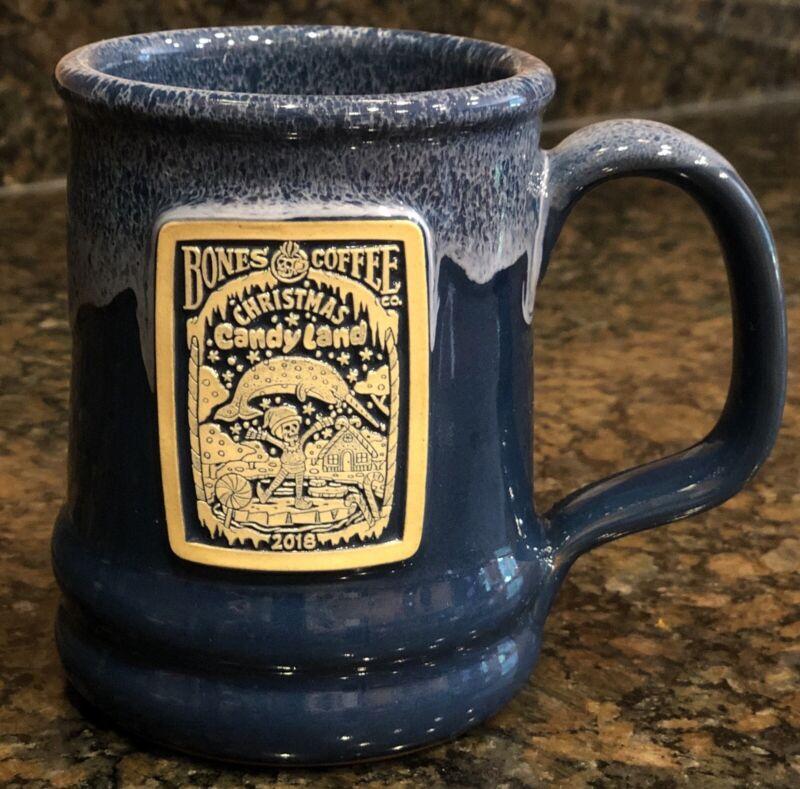 Bones Coffee Company Deneen Pottery Mug Candy Land 2018 Christmas Mug